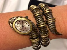 Kenneth Jay Lane vintage python watch/bracelet  New York 1975-1980