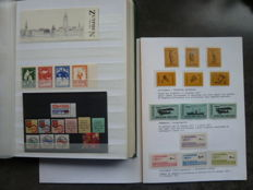 Local stamps - Batch of FDCs, postal items including strike mail, brochures and stamps