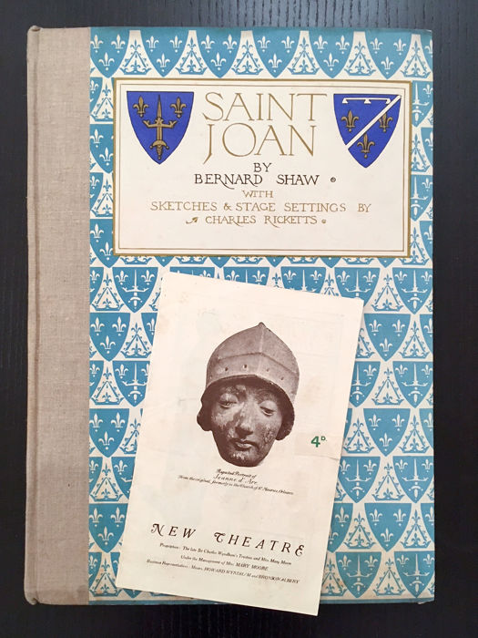 Bernard Shaw - Saint Joan. With sketches and stage settings by Charles Ricketts - 1924