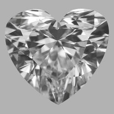 1.01ct Heart Brilliant Diamond  E VS2   IGI - SEALED - Original image 10EX  serial#2316