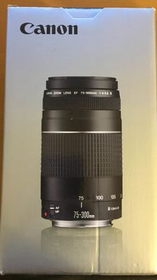 75-300 mm zoom objective for Canon cameras