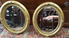 Pair of mirrors in gold leaf, end 19th century