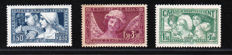 France 1928/1931 - Selection of 3 Caisse d'Amortissement and Smile of Reims stamps - Yvert no. 252, 256, 264
