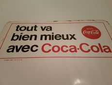 Original Coca Cola advertising sign - signed