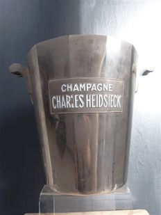 Argit - Art Deco silver-plated champagne cooler - for champagne brand Charles Heidsieck