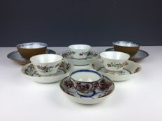 6 Sets of porcelain cups and saucers - China - 18th century