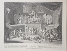 Thomas Cook (1744 or 1745?-1818) after William Hogarth - The lotery - 18th century