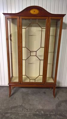 English style Display Cabinet in fine woods with inlays