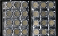 Europe - collection of 90 different 2 euro coins