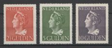 "The Netherlands 1946 - Queen Wilhelmina ""Konijnenburg"" - NVPH 347, 348 and 349"