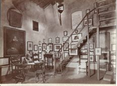 1872 Studio Alinari photo - The room occupied by Galileo Galilei in the Torre del Gallo on Arcetri Hills, between 1634 and 1642