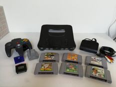 Nintendo 64 with 6 games and expansion Pack.