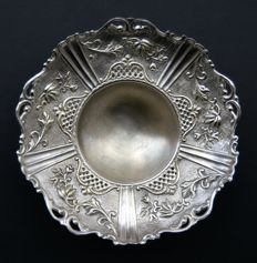 Antique Silver Plated Large Footed Bowl, European, Late 19th Century
