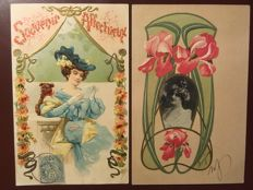France 1900 / 1914 - lot with 46 fantasy postcards of beautiful quality.