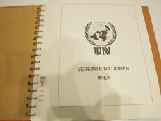 UN Vienna - batch in a Lindner hingeless album, from the beginning until 2006