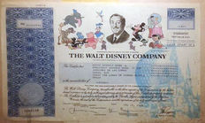 Walt Disney Company - Stock Certificate - One Share - July 15th 2010
