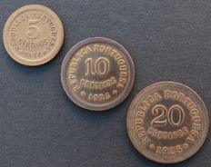 Portugal – Republic – Set – 5/10 & 20 Centavos 1925 – Bronze