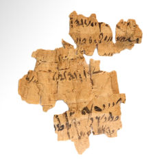 Egyptian Papyrus Manuscript with Demotic Script,