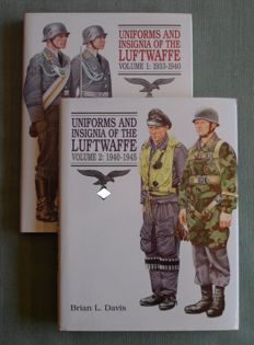 Brian L. Davis – Uniforms and Insignia of the Luftwaffe – 2 volumes – 1991/1995