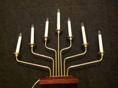 Konstmide - brass candelabra with 7 arms