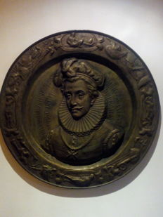 Display plate in copper - François-Hercule de Valois - probably 16th or 17th century