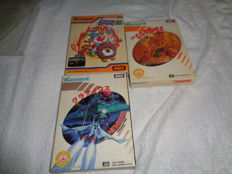 3 MSX games Circus Charlie , Nemesis and The Goonies - boxed