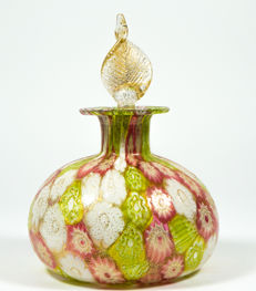Campanella Livio (Murano) - Millefiori Murrine and gold leaf bottle