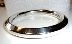 925 silver - handmade bangle - very heavy design of 28.65 g