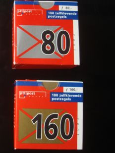 The Netherlands 1997 - Stamp rolls, complete rolls still in sealed boxes - NVPH 1707/1708 R (100x)