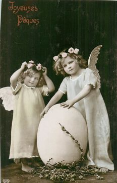 "Fantasy postcards with themes - batch of 100 postcards ""Easter and April 1"""