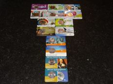 The Netherlands + 5 Euro coincards 2006 to 2013 (14 different ones), Original Knm