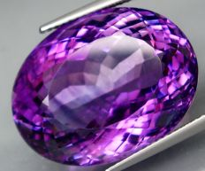 Amethyst – 32.37 ct.    -  IGE Certificate  -  No Reserve Price