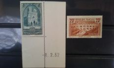 France 1929/1931 - monuments and sites - Yvert no. 258-262