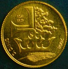 Portugal, Republic - ¼ euro, 2008 - D. Dinis - gold