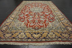 Exclusive hand-knotted Persian palace carpet old flowers Lavar Kerman patina  150 x 250 cm Tappeto carpet