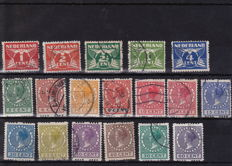 The Netherlands 1916/1929 - Internment camp stamps and selection of syncopated perforation stamps