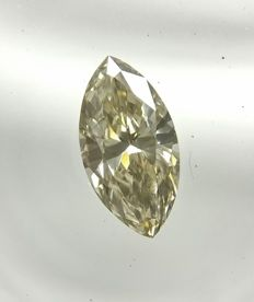 0.45 ct Marquise cut diamond Fancy Light Grayish Yellow VS1  -No Reserve