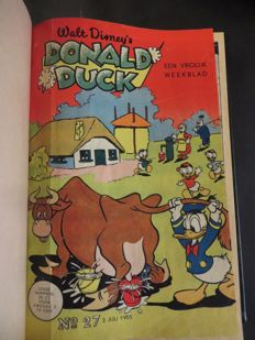 Donald Duck Weekblad 4 private bindings - 4xhc - 1st edition (1955/1957)