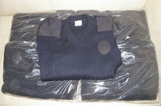 Lot of 20 Assorted Units of Jersey Pullovers Produced in the United Kingdom in the 1990s of High Quality 50% Wool and 50% Acrylic
