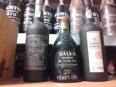 20 years old Tawny Port: Cockburns - bottled in 1988 & Dalva bottled in 1978 & Martha bottled in 1991 - 3 bottles in total