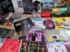 "Lot of 29 7"" old jazz EP's (mostly four titles each) from the 50's and 60's, in VG+ condition."