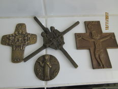 Four bronze items from the Roman Catholic tradition - Germany - mid 20th century