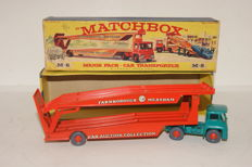 Lesney Matchbox Series - Scale 1/78 - Guy Warrior Tractor with Farnborough Measham Car Transporter Major Pack no.M8b