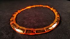 Vintage  100% Genuine aged cognac colour Baltic Amber necklace, 38 gramsca. 1960's