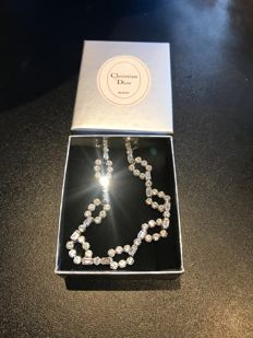 Christian Dior bijoux boxed rare crystal necklace amazing shine