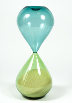 De Mio Giuliano - Emerald green/blue Incalmo hourglass