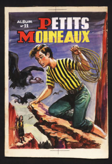 David, A. - Original cover - Petits Moineaux (Little sparrows) - Volume 11 - [1950s]