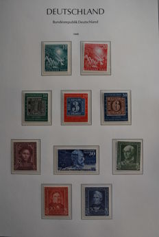 Federal Germany, 1949/1969 – Complete collection, with various sheets