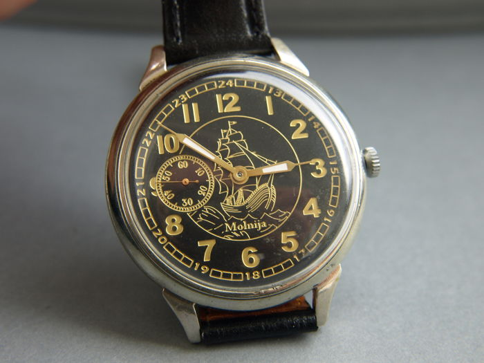 37. Molnija Sailing marriage wristwatch between 1950-55