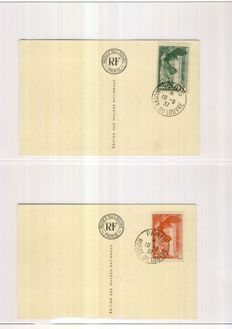 France 1932/1948 - Almost complete collection in Yvert & Tellier album - Yvert 280 to 792